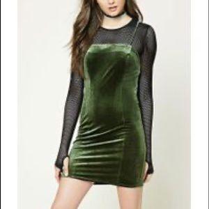 Forever 21 Velvet Green Dress